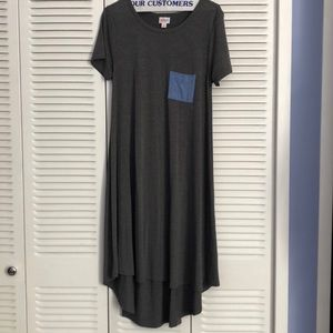 Gray LulaRoe Midi Dress